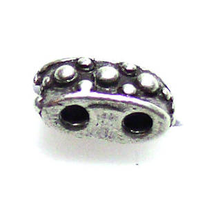 Spacer Bead, textured, 2 holes