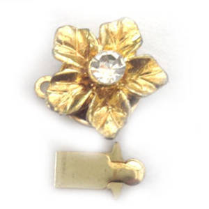 Sparkly Clasp,  Gold Flower