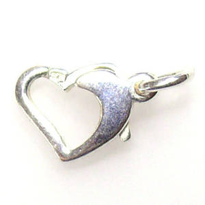 Heart Clasp, sterling silver