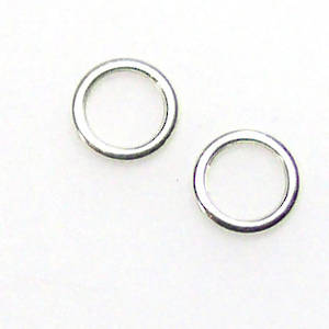 Perfect Ring, sterling silver - clasp end