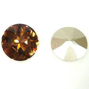 27mm Swarovski 1201 Large Stone, Light Colorado Topaz