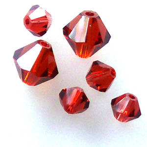 4mm Swarovski Crystal Bicone, Indian Red