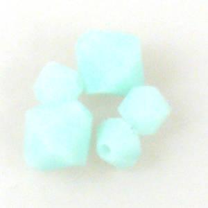 4mm Swarovski Crystal Bicone, Mint Alabaster