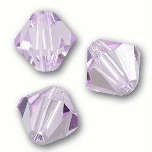6mm Swarovski Crystal, Bicone, Violet Opal AB
