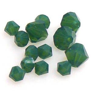 6mm Swarovski Crystal Bicone, Palace Green Opal