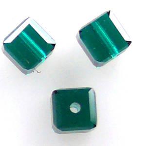 4mm Swarovski Crystal Cube, Emerald