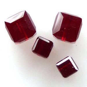 6mm Swarovski Crystal Cube, Siam