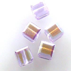 4mm Swarovski Crystal Cube, Violet AB