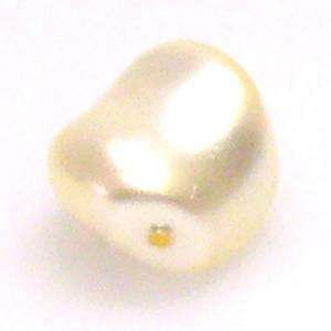 Baroque Swarovski Pearl, Cream