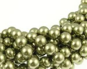 8mm Round Swarovski Pearl, Light Green