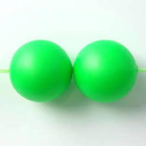 12mm Round Swarovski Pearl, Neon Green
