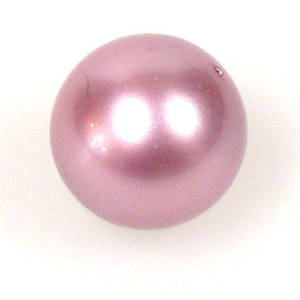 10mm Round Swarovski Pearl, Powder Rose