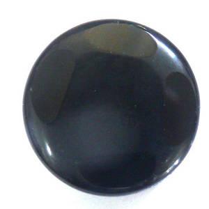 Black Agate 4 Facet Disc, 28mm x 8mm thick