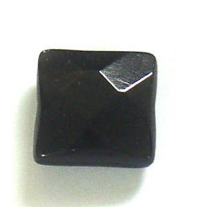 Small Agate Faceted Square, 10mm
