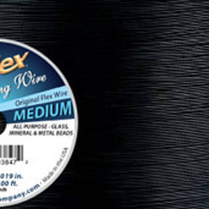 Medium Softflex, Black - 30 foot (9m) spool