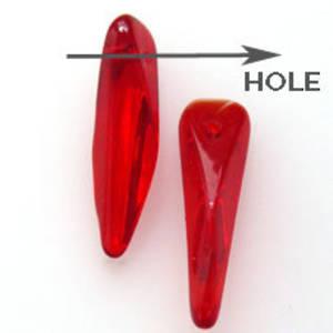 Fat Top Dagger Bead, 6mm x 20mm x 5mm: Siam
