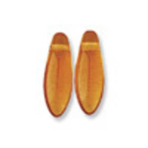 Dagger Bead, 5mm x 12mm: Amber