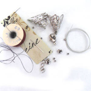 Multi-strand necklace BASE KIT: Threads and Findings