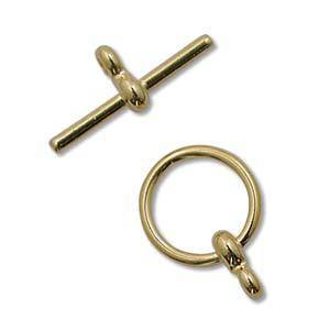 NEW! Toggle: Plain with figure 8 detail - gold