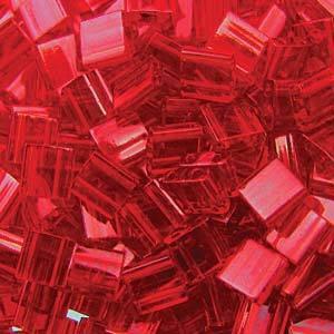 Tila Bead, 5mm, Transparent Red