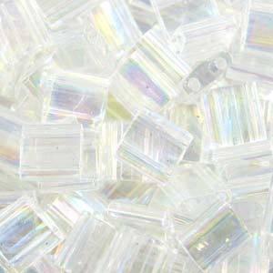 Tila Bead, 5mm, Crystal AB