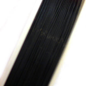 Tigertail Beading Wire: 1 meter - Black