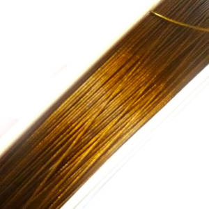 Tigertail Beading Wire: 100m roll - Golden Brown