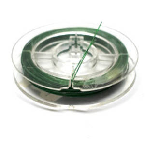 Tigertail Beading Wire: 10m roll - Grass Green