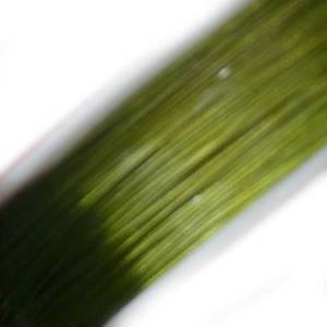 Tigertail Beading Wire: 100m roll - Lime Green