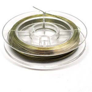 Tigertail Beading Wire: 10m roll - Lime Green