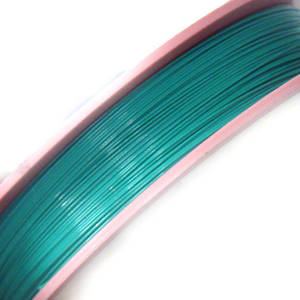 Tigertail Beading Wire: 100m roll -  Emerald, light (A grade)