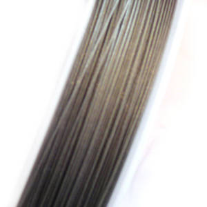 Tigertail Beading Wire: 1 meter - Silver Grey