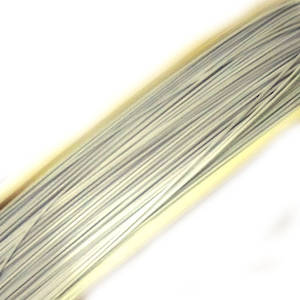 Tigertail Beading Wire: 1 meter -  Very Light Grey/White