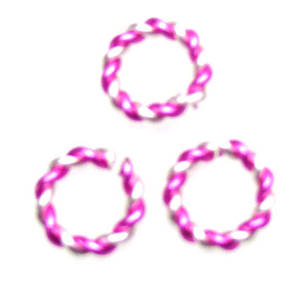 Twisted Jumpring, silver/rose