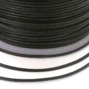 Indian round cotton cord - 1mm - dark brown