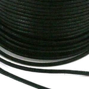 Indian round cotton cord: 2mm - black