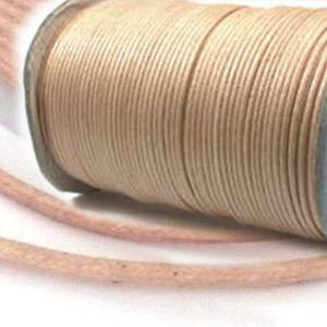 Indian round cotton cord: 2mm - natural