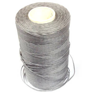 1mm Braided Waxed Cord, Light Grey