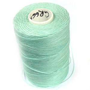 1mm Braided Waxed Cord,  Light Mint