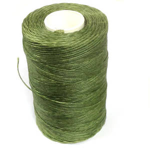 1mm Braided Waxed Cord, Olivey Green