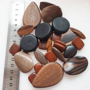 Wooden Bead MIX:  Large Polished Beads