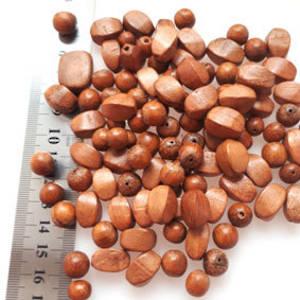 Wooden Bead MIX:  Medium Beads, approx 100