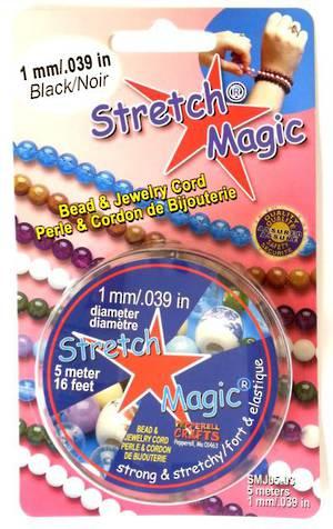 1mm Black Stretch Magic Cord - 5m roll