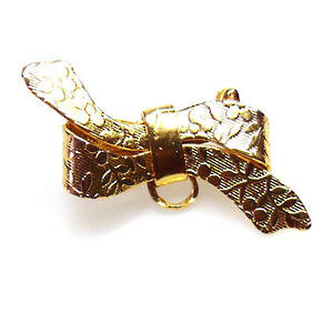 Brooch Back, bow, gold