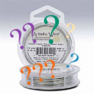 MYSTERY PACK! Artistic Wire, 4 -5 x partial rolls 28 - 22 gauge, mixed colour