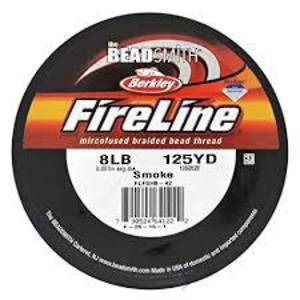 8lb Fireline, 125 yard spool: SMOKE