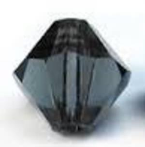 6mm Swarovski Crystal Bicone, Morion
