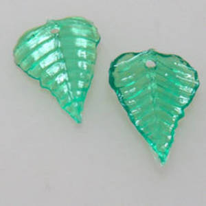 NEW! Acrylic Leaf, 10mm x 15mm - Green