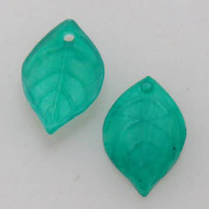 NEW! Acrylic Leaf, 9mm x 15mm - Matte Darker Green