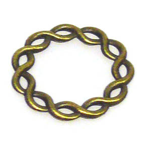 Metal wire weave ring shape
